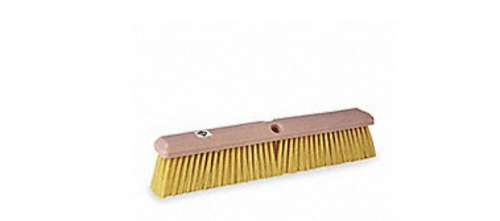 TOUGH GUY Push Broom,Head,18 ,Yellow, 1A840.  Case of (12) Heads