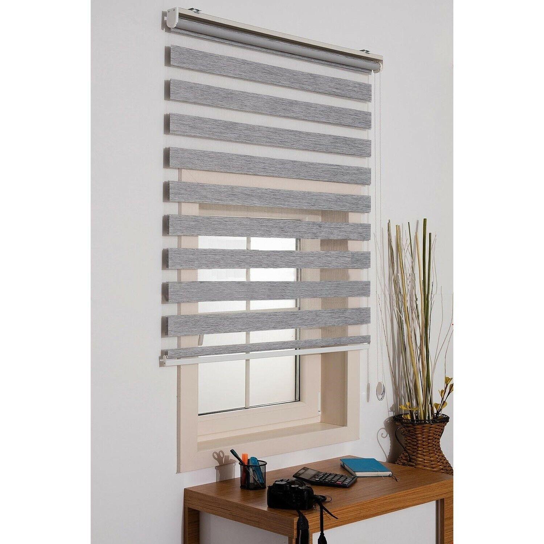 Vidaxl Zebra Blind 140x175cm Grey Home Office Window Roller Shade Sunscreen For Sale Ebay