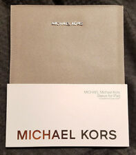 Michael Kors Ipad Tablet Sleeve Pearl Gray Case Smart Cover Compatible FREE S&H!