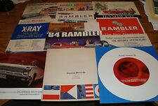 Original 1955-1966 American Motors AMC Rambler Sales Brochure Lot of 13 55 60 64