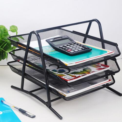 A4 Briefablage Schubladenbox Briefkorb Büro Schreibtisch Ablagebox 3 Fächer NEU