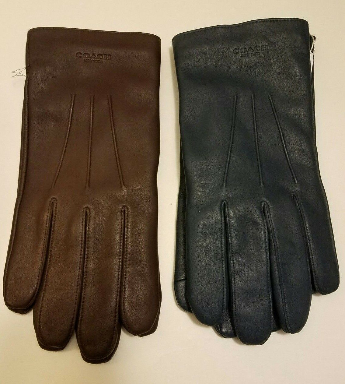 Coach NWT Mens Leather Glove Wool Lining Choose Color MSRP F54182
