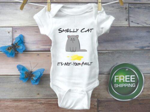 Friends Inspired Smelly Cat Gerber Onesie Bodysuit Gender Reveal Shower Gift