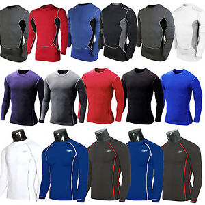 Men-Compression-Base-Layer-Skin-Long-Sleeve-Fitness-Thermal-Tight-T-Shirt-Top