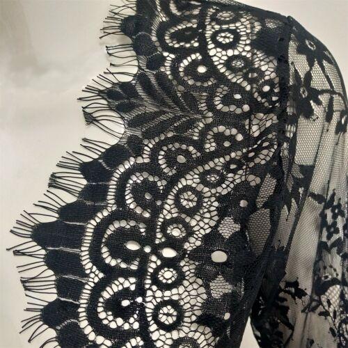 Spitze Clubwear Party Kleid Abendkleid Ballkleid Schwarz Weiß Langarm BC610