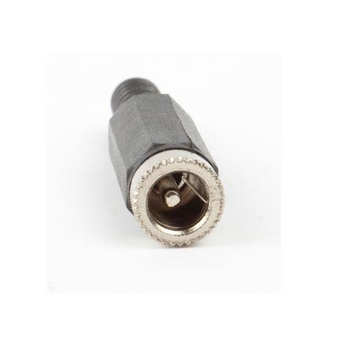 20 Pcs 2.1x5.5mm DC Power Female Plug Jack Adapter Connector InLine Socket CCTV