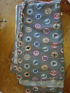 Pottery Barn Kids Quot Nfl Football Logos Quot Full Flat Sheet Ebay