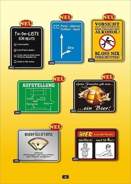 Fun Collection Blechschild Bier Fussball Männer Schild Auswahl lustig bedruckt