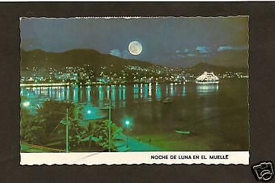 Full Moon At Night Acapulco Mexico Ebay
