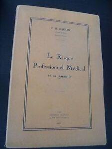 P-R-Baglin-El-Peligro-Profesional-Medical-Y-Su-Garantia-Paris-1931-Guante