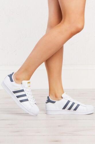 Adidas e tennis Nuove bianche da 7y scarpe grigio 9 scuro Womens Superstar q0tt1FEwx