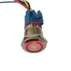 Astonishing 12V 19Mm Button Red Led Light Fire Missiles Momentary Metal Switch Wiring Digital Resources Dimetprontobusorg
