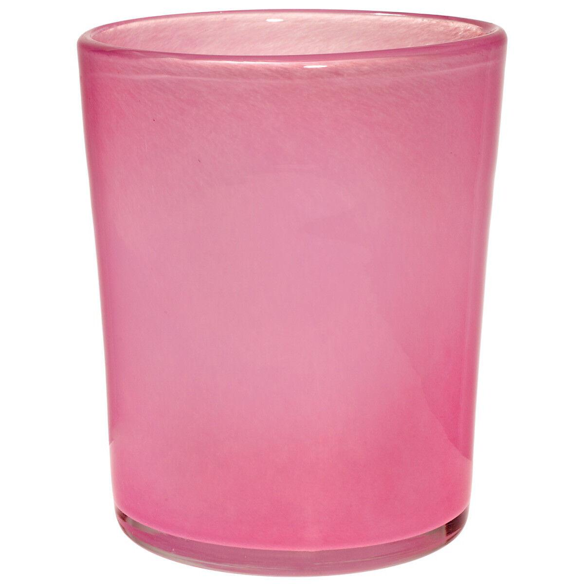 Vase pot  Couleuri  Fuchsia H = 23 cm, Handmade (art glass cristalica) gw02839