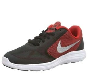 Details about Nike Boys Revolution 3 Running Shoe (GS) 3.5y University RedSilver 819413 600