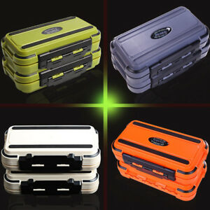 AM/_ 24 Compartment 2 Layer Waterproof Fishing Lure Bait Tackle Storage Box Case