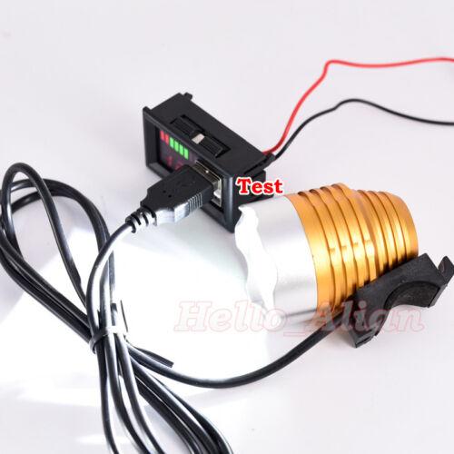 12 V Lead acid battery BMS capacité Indicateur Tension Mete Chargeur USB Pour Téléphone