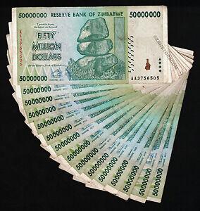 AA 2008 Currency 10PCS Zimbabwe 200 Million Dollars x 10 Banknotes Circulated