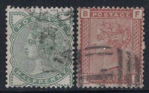 Grossbritannien-1880-Mi-55-56-Gestempelt-40-Queen-Victoria