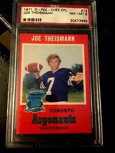 1971-O-PEE-CHEE-CFL-13-JOE-THEISMANN-RC-PSA-8-Toronto-Argonauts-Redskins-RARE