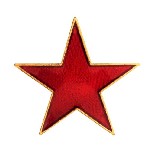 Red Star Small Pin Badge For Schools