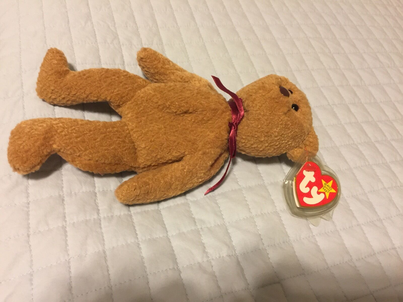 Ty, vintage - original 1996 curly beanie baby