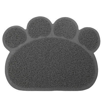 Dog Puppy Paw Shape Placemat Pet Cat Dish Bowl Feeding Food PVC Mat Wipe Clean