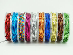 0.6mm Braided Metallic Beading Cord DIY Jewelry Making - Assorted 10 Spools