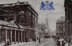 R334111 Arms of Bath. Bath. Exterior. Pump Room. Stall Street. Tuck. Silverette.