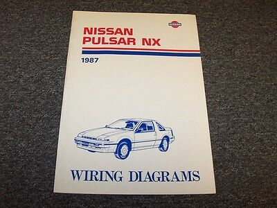 1987 nissan pulsar coupe electrical wiring diagram user guide manual nx  16l  ebay