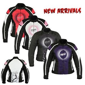 Ladies-Women-Motorcycle-Waterproof-Cordura-Textile-Jacket-Motorbike-Armours