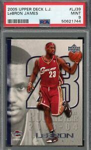 LeBron James 2005 Upper Deck Basketball Card #LJ39 Graded PSA 9