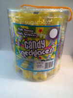 Candy Necklaces  x40 individual wrapped  Party Bag Fillers  sweets Candy