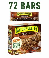 Nature Valley Granola Bars Crunchy Oats And Dark Chocolate 6 Pouches- 1.5 Oz ...