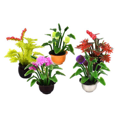 G0lden/&Mang0 5Pcs Dollhouse Mini Vase Model Miniature Toy Lace Resin Flower Vase Model Ornaments Decor,DIY Micro Landscape Dollhouse Decoration Accessories