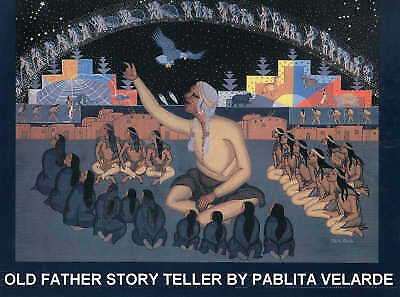 1 of 1 - Old Father Story Teller by Pablita Velarde (Hardback, 1989)