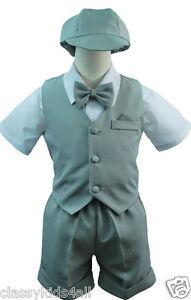 686b71ca247c New Infant Boy   Toddler Eton Formal Vest shorts Suit New born to 4T ...