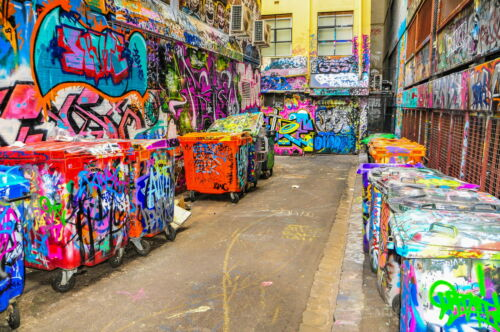 "59"" Huge Hosier Lane Melbourne graffiti street art painting Canvas Australia"