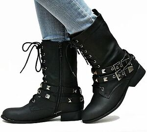 Innovative Top 6 Women Combat Boots Black  Blue Image