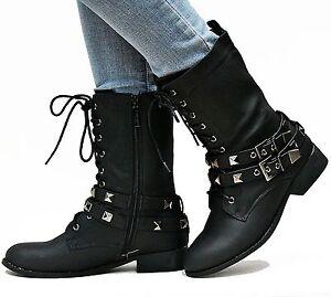 Innovative Top 6 Women Combat Boots Black  Blue Image