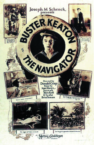 The navigator Buster Keaton vintage movie poster print