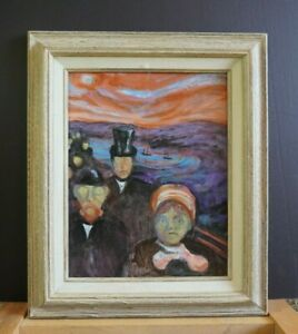 Framed-Painting-Reproduction-of-Anxiety-by-Edvard-Munch-Norway-Tom-Ward