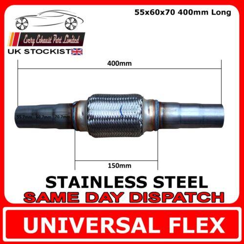 Tuyau d/'échappement universel Flex en Acier Inoxydable Flexi 55 idx60 idx70 id 400mm 150 FX