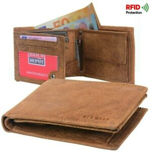 Portefeuille-Homme-RFID-a-trois-volets-en-veritable-Cuir-Robuste