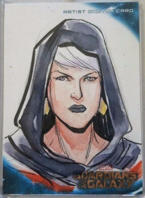 Phyla-Vell Artist Sketch Card Nicole Virella Guardians of the Galaxy Upper Deck