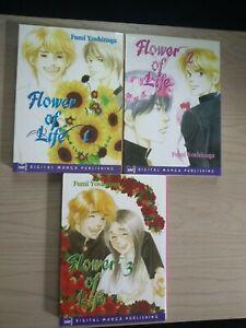 Flower of Life 1-3, Lot of 3 Shojo Manga, English, 16+, Fumi Yoshinaga