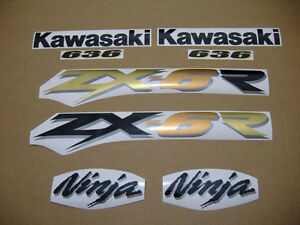ZX-6R 2003 ninja complete decal sticker graphics set kit 636 adhesivos наклейки