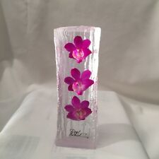 Hand made real orchids paper weight