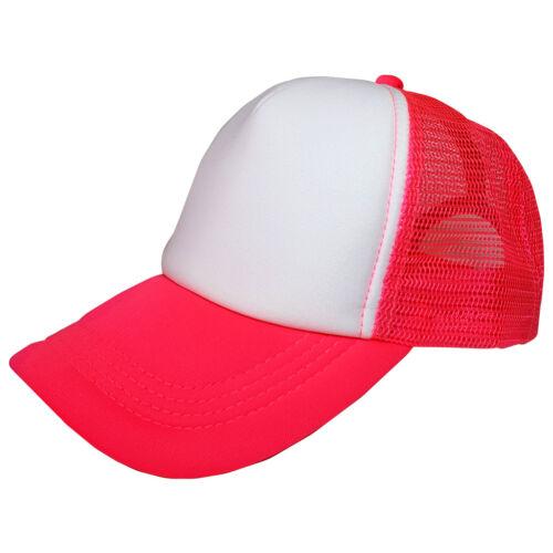 Various Colours Unisex Adjustable Mesh Baseball Plain Trucker Hat Cap