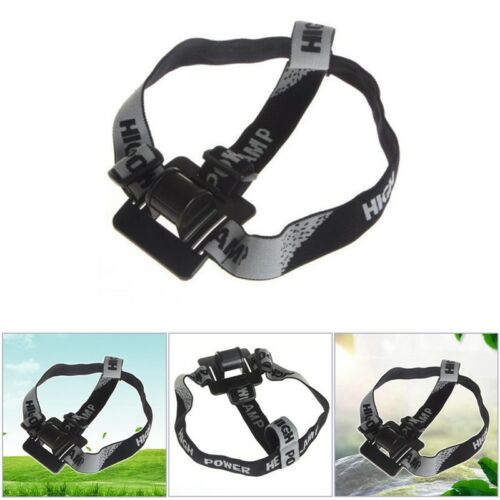 Headband//Helmet Elastic Strap Mount for Headlamp//Head Light//Bicycle Black  Nice