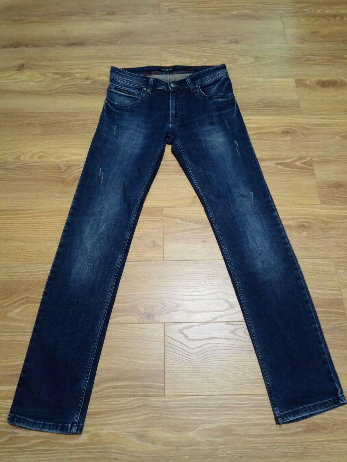Philipp PLEIN Para Hombre Calce Recto Cut Jeans  Pantalones Slime Talla W30 L34  punto de venta